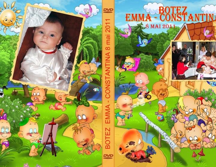 Botez coperta si fete DVD Emma